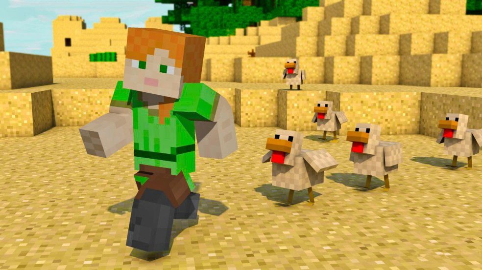 minecraft-alex-chicken-parade